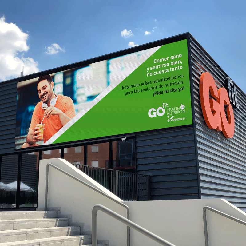Giant IMAGIC screen for gyms GOFIT